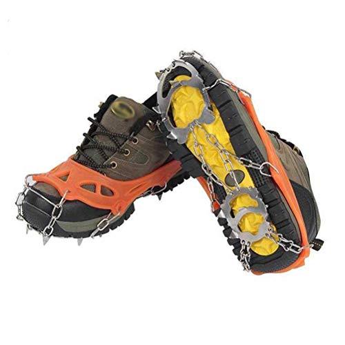 GAOJIAN Crampones Cubierta Antideslizante de Zapatos, 12 Puntas de Acero Inoxidable para Botas de Nieve, protección Segura para Senderismo, Caminar, Escalar, Trotar crampons - 37