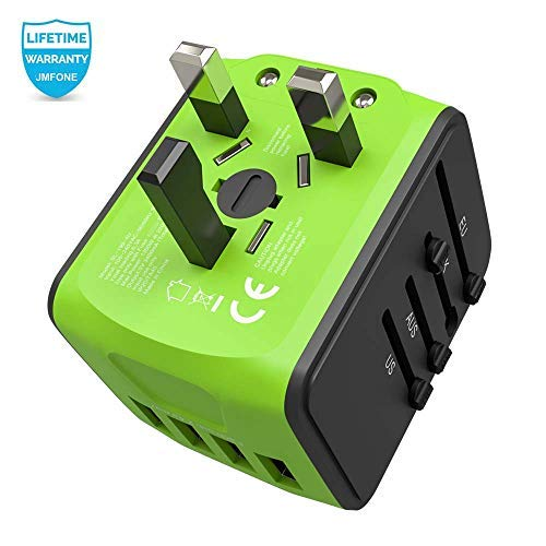 JMFONE International Travel Adapter Universal Power Adapter Worldwide All in One 4 USB with...