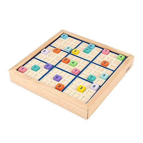 SmallPocket Holz Sudoku Brettspiel für Kinder und Erwachsene, Sudoku Puzzles Lernspielzeug Intelligentes Denkspiel Geschenk für Familienfeier Gethering