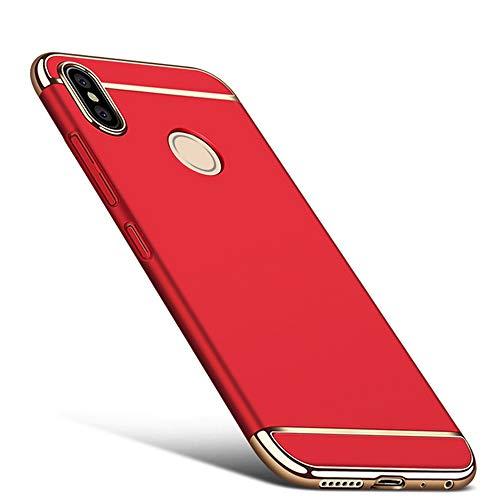 DESCHE para Funda Xiaomi Redmi Note 5/Pro Funda Mate a Prueba de Golpes y arañazos+Vidrio Templado, Protección 360° Funda Compatible Xiaomi Redmi Note 5/Pro Rojo