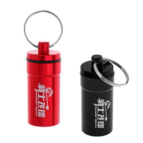 perfk Alu Darts Box Etui Case Tasche Wallet Aufbewahrung für Darts-Pfeile und Zubehör Dartzubehör Aufbewahrungsbox