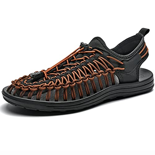 YUESFZ Zapatos De Moda De Verano Tejidos Aguas Arriba, Botas Ligeras De Secado Rápido para Exteriores para Hombre, Zapato De Vadeo Anfibio Antideslizante (Color : E, Size : US-6(Men))