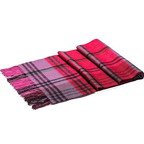 Nvshiyk Schals für Frauen Damen-Lange Thick Schal-Winter-Schal Herbst Plaid warme Schal-Plaid-Streifen-Muster Reisedecke Schal (Farbe : C47, Size : 180x30cm)