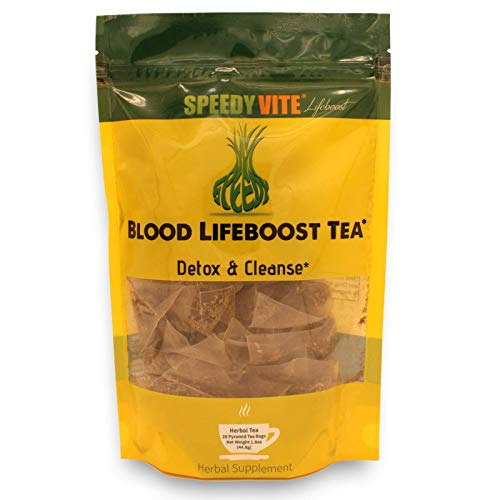 SpeedyVite Blood Cleansing LifeBoost Pyramid Tea Bags –Cleanses & Supports Natural Removal of Excess Waste Chemicals from The Blood Stream* Chaparral Echinacea Chamomile. Herbal Supplement
