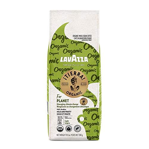 Lavazza ¡Tierra! Organic Planet Whole Bean Coffee Light Roast, 10.5 Oz (Pack of 6)