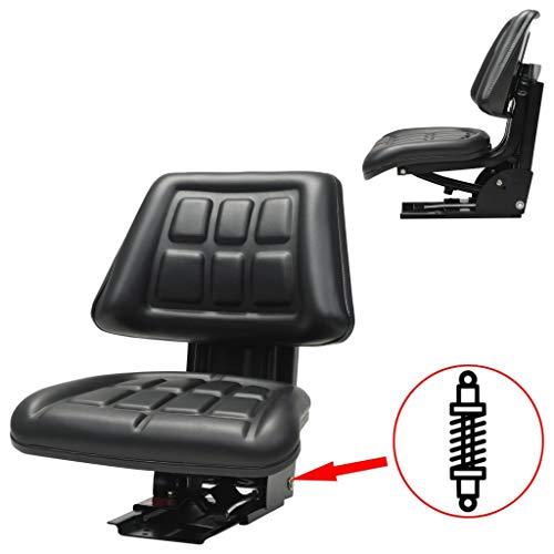 vidaXL 142316 Traktorsitz mit Federung Schwarz Schleppersitz Staplersitz Baggersitz