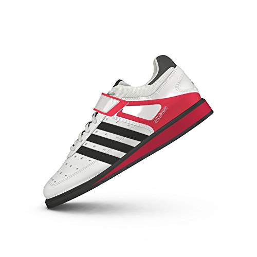 adidas Power Perfect II, Chaussures Multisport Indoor Mixte, Blanc (White/Black/Red), 51 1/3 EU