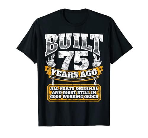 Funny 75th Birthday Shirt B-Day Gift Saying Age 75 Year Joke
