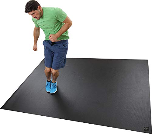 Square36 Large Exercise Mat Thick 6 Ft x 4 Ft. Ideal for Home Cardio Workouts With Or Without Shoes. Roll Out In Living Room & Roll Up To Store Square36 Large Fitness Mat