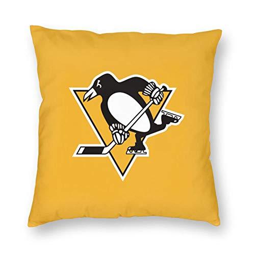 Amacgc Pittsburgh Team Fans Penguin Decorative Square Pillowcase Cover Sofa Bedroom Car Cushion