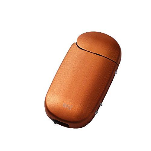 iQOS アイコス 用 アルミ ケース 2.4 Plus / 2.4 両対応 ストラップホルダー付き 工具不要 ネオジウム磁石で簡単装着 WIZ (オレンジ)