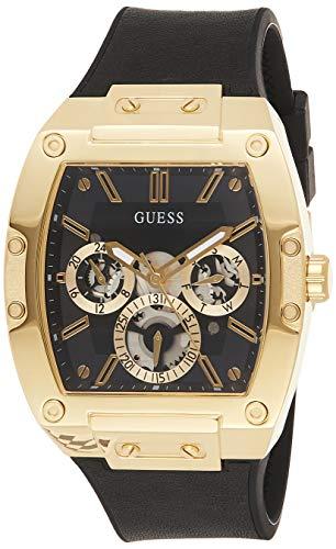 Guess Homme Uhr Analogique Quartz mit Cuir Armband GW0202G1