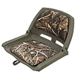 Attwood 98391GNMX Padded Boat Seat, Camouflage, Molded Plastic Frame, 20 Inches W x 17 Inches D x 12 Inches H