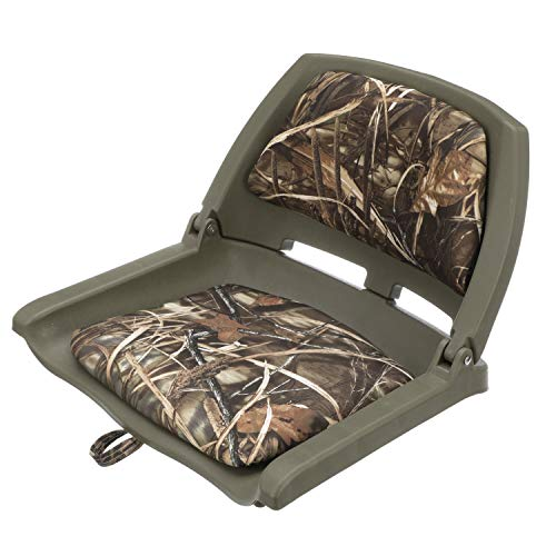 attwood 98391GNMX Padded Boat Seat, Camouflage, Molded Plastic Frame, 20 Inches W x 17 Inches D x 12 Inches H, One Size