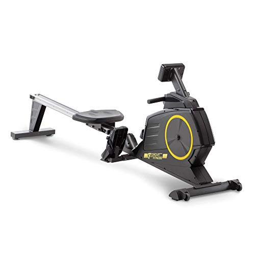 CIRCUIT FITNESS Circuit Fitness Deluxe Foldable Magnetic Rowing Machine with 8 Resistance Settings & Transport Wheels (AMZ-986RW) from IMPEX