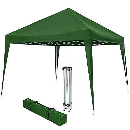 TecTake Gazebo Plegable jardín Fiesta Tienda de campaña Carpa pabellón 3x3 m con Funda de Transporte (Verde | No. 401620)