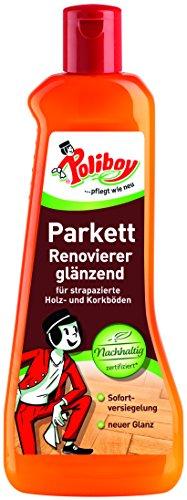 Poliboy - Parkett Renovierer glänzend - für Holz- und Korkböden - Sofort Versiegelung - Bodenreinigung - Einzeln - 500ml - Made in Germany