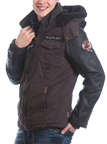 khujo Herren Jacke mit Inner Jacket Charcoal Herbst Winter (S)