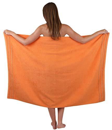 Betz Genua Duschtuch Badetuch Duschhandtuch Größe 100x150 cm 100% Baumwolle Farbe orange