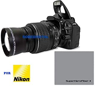 HD Sport Action 2X Tele Zoom Lens for Nikon D3200 D3000 D5300 D5000 D5200 D3300 D90 D80 D40 D40X D70