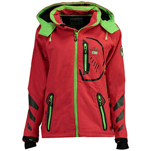 Geographical Norway Damen Softshell Funktions Outdoor Regen Jacke Sport [GN-Thea-Coral-Gr.L]