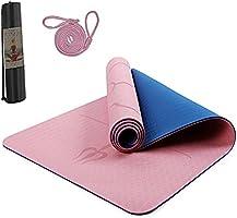 Hatonky Esterilla Yoga Antideslizante Alfombrilla de Yoga TPE Esterilla Pilates Esterilla Deporte- con Correa de Hombro...
