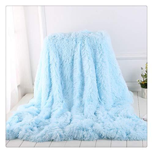HDDFG Manta para Mascotas Manta de Pelo Largo 4-5cm Mantas para el Pelo Fundas de Cama Azules Colcha de Invierno para el hogar Funda de Almohada Estilo japonés 200 * 230cm (Size : 160x200cm)