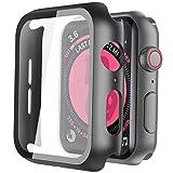 ULOE Apple Watch Series 5 / Series 4 40mm ケース, Apple Watch 超薄型フィルム 3D全面保護 ガラスカバー 傷防止 耐衝撃PCケース 2019 新しい アップルウォッチシリーズ 5/4 40mm ケース(ブラック)