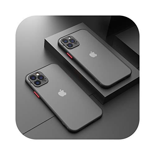 Custodia protettiva per fotocamera per iPhone 11 Pro Max 12 Mini 7 8 6 6S Plus XR X XS MAX SE 2020 Custodia in silicone bumper satinato Cover nero per iPhone11 Pro Max