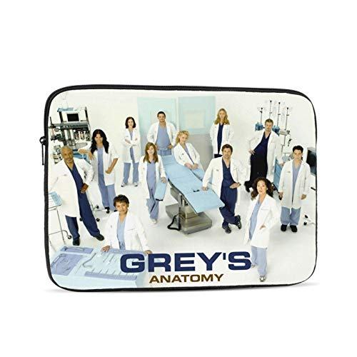 Greys Anatomy Laptop Sleeve Case Protective Soft Padded Zipper Cover Carrying Computer Bag Laptop Sleeve Bag Water Repellent Vertical Protective Case 12 inch