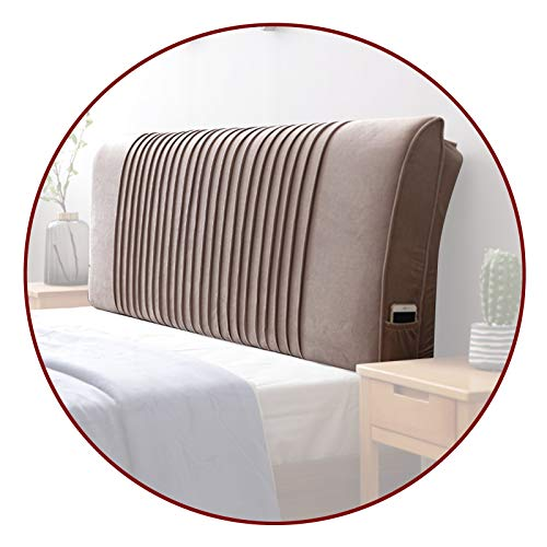 Headboard Pillow Bed Large Cushion, Body Positioners Backrest Positioning Support Anti-collision For Daybed Office, 4 Colors QianDa (Color : Light brown, Size : 150x58x10cm)