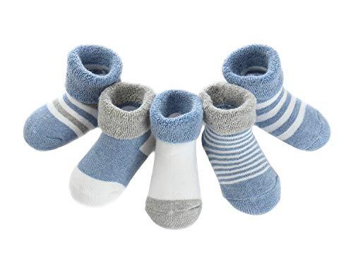 Adorel Baby Jungen Socken Baumwolle Gefüttert 5er-Pack Dunkelblau 1-3 Jahre (Herstellergr. L)