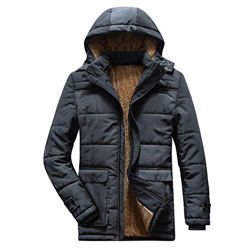 Herbst und Winter Herren Dicker Warm Polar Fleece Kapuzenpullover Parka Herren Große Taschen Gr. XL, grau