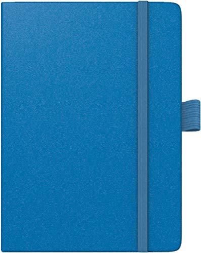 Brunnen 1073266321 Taschenkalender Modell 732 Kompagnon, 2 Seiten = 1 Woche, 10 x 14 cm, Baladek-Einband blau, Kalendarium für 18 Monate (Juli 2020 bis Dezember 2021)
