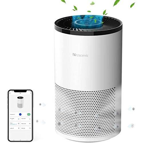 Proscenic A8 Purificatore d'Aria, Depuratore Air Smart con APP Controllo Vocale Alexa & Google Home, Filtro Ioni d'Argento Antibatterico & Antiallergico, Basso Rumore per Casa/Ufficio/Spazio Privato