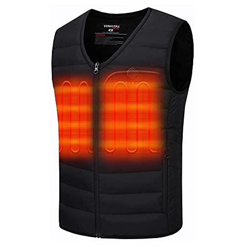 Venustas Men's Heated Vest with Battery Pack 7.4V, Lightweight insulated Electric Vest