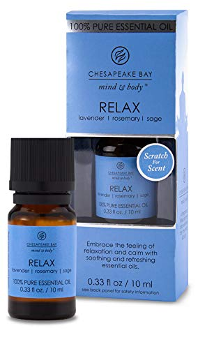 Chesapeake Bay Candle 100% Pure Essential Diffuser Oil, 10ml, Relax (Lavender Rosemary Sage)