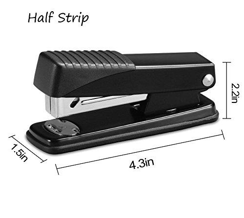 Ktrio Stapler,Office Staplers with 3000 Staples 20 Sheet Capacity Half Strip Ergonomic Metal Stapler for Swingline Staples Bostitch Staples Praxxis Pro Staples Black 2 Pack Photo #4