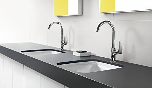 Hansgrohe – Einhebel-Waschbeckenarmatur, mit Zugstangen-Ablaufgarnitur, Chrom, Serie Logis 210 - 3