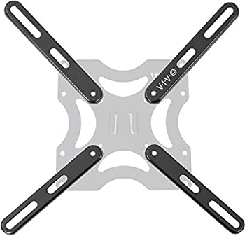 VIVO Steel VESA Extension Mount Adapter Brackets for Screens 32 to 55 inch LCD LED TV Conversion Plate Kit for VESA up to 400x400mm MOUNT-AD400B
