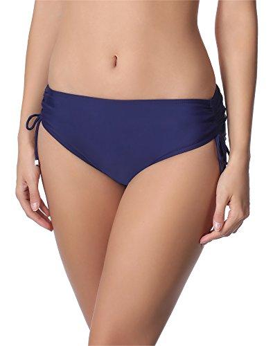 Merry Style Bragas Tanga de Bikini Parte de Abajo Bañador Mujer M30 (Azul Oscuro (6007), 44 (Tallas del Productor: XXL))