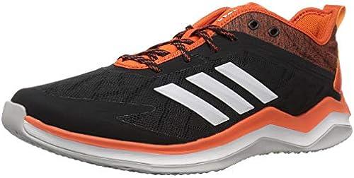 adidas Men& 039;s Speed Trainer 4 Baseball schuhe, schwarz Crystal Weiß Collegiate Orange, 6.5 M US