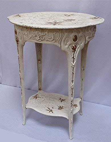 linoows Jugendstil Beistelltisch, Schwerer Gartentisch, Pflanzen Tisch, Gusseisen