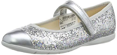 Clarks Mädchen Dance Tap K Geschlossene Ballerinas, Silber (Silver Silver), 33 EU