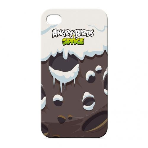 Gear4 ICAS408G Angry Birds Space Soft Touch IML Snow Schutzhülle für Apple iPhone 4/4S grau