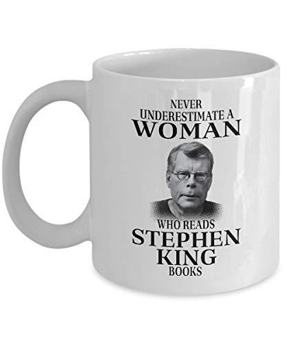 Thorea Nunca subestimes a una mujer que lee los libros de Stephen King Taza