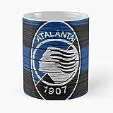 Atalanta Bergamo - Tazza da caffè in ceramica bianca, 11 Oz 15 Oz Que Je Personalise!