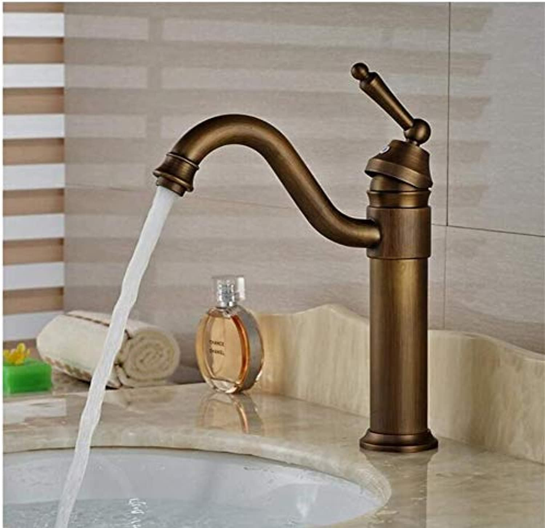 Faucet Deck Mount Vanity Sink Mixer Taps Antique Brass