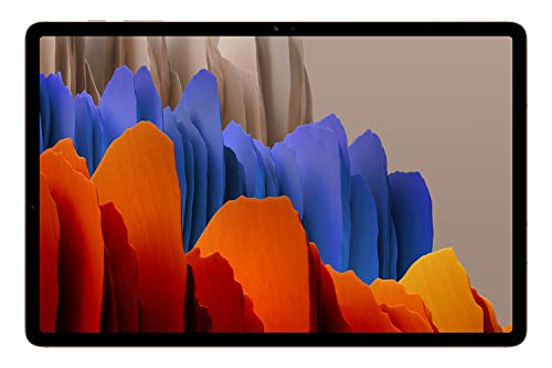 """Samsung Galaxy Tab S7+ - Tablet de 12.4"""" QHD (5G, Procesador Qualcomm Snapdragon 865 Plus, RAM de 6GB, Almacenamiento de 256 GB, Android 10, S Pen incluido) - Color Bronce [Versión española]"""