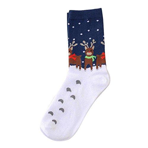 LEXUPE Damen Kuschelsocken Warme Wintersocken Cute Cartoon Muster Hausschuhsocken Anti Rutsch Noppen Socken(B,Free Size)